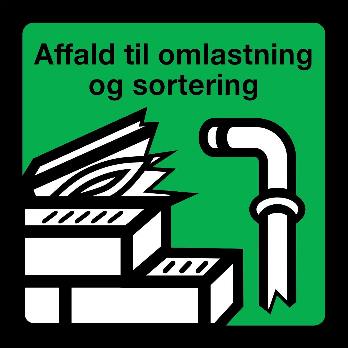 Affald til omlastning og sortering