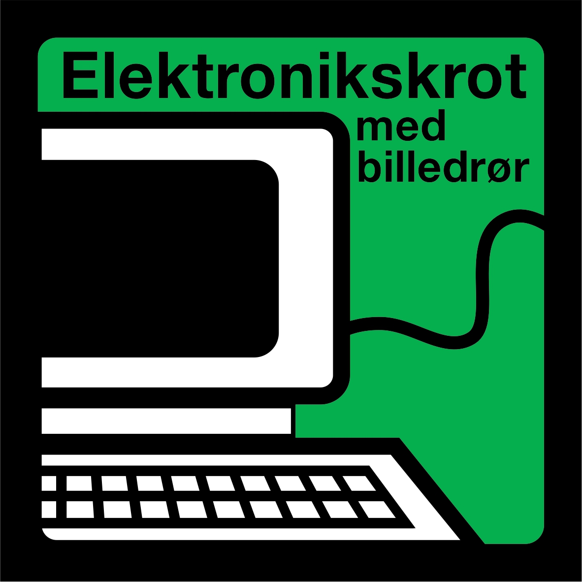 Elektronikskrot med billedrør