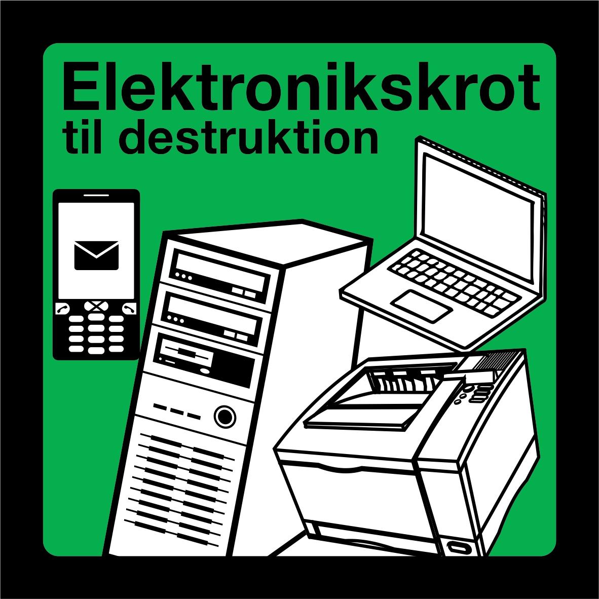 Elektronikskrot til destruktion