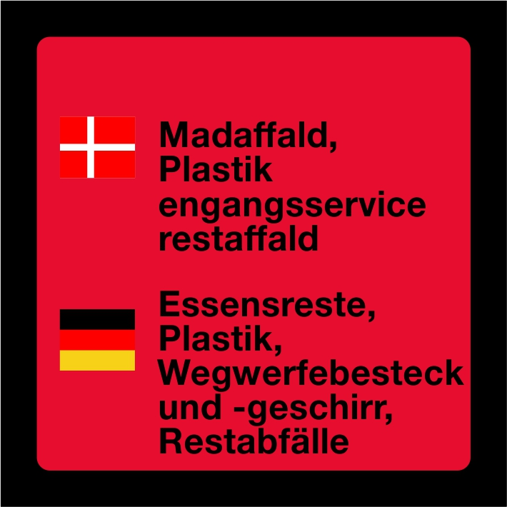 Madaffald, Plastic, engangsservice, rest
