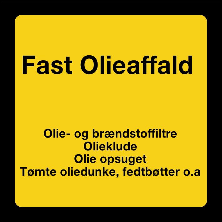 Fast olieaffald